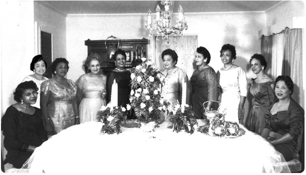 Viola Borders, Marie Brooks, Ethelyn Burnett, Sybil Byrd, Hortense Chatman, Mae Pearl Flint, Mutelle Flint, Marie Platte, Ruby Williamson, Zelma Woodard